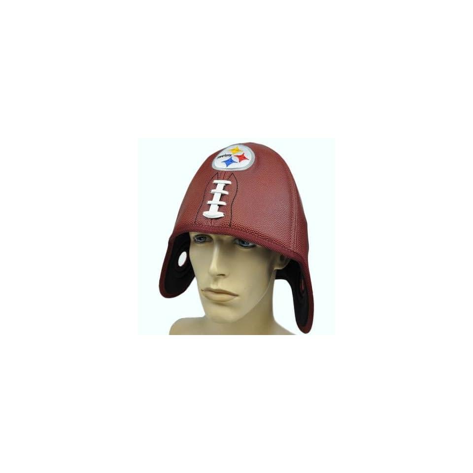 NFL Pittsburgh Steelers Reebok Faux Leather Helmet Head Football Shaped Hat Cap  Sports Fan Novelty Headwear  Sports & Outdoors