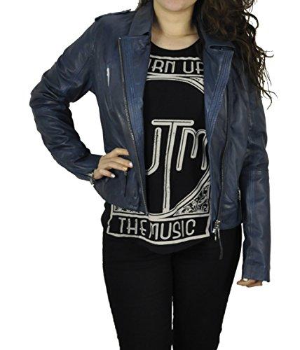 Michaelax-Fashion-Trade -  Giacca  - Camicia - Basic - Maniche lunghe - Donna blu