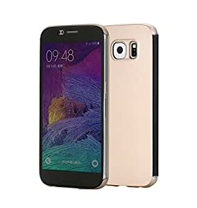 Kapa Rock DR V Smart View Flip Case Cover For Samsung Galaxy S6 - Gold