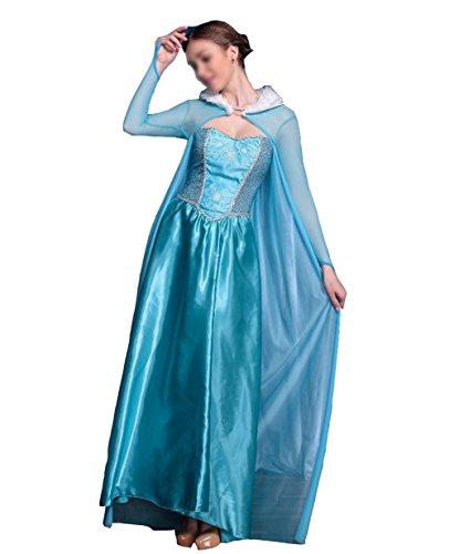 SMITHROAD Damen Prinzessin Kostüm Karneval Verkleidung Party Cosplay Kleid Anna Elsa