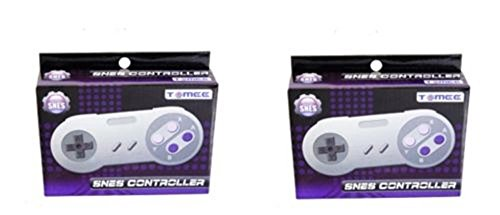 Video Game Accessories TWO 2 NEW 16 BIT CONTROLLER FOR SUPER NINTENDO SNES SYSTEM CONSOLE CONTROL PAD (Nes Emulator Console compare prices)