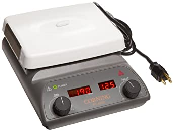 "Corning 6795-420D PC-420D Stirring Hot Plate with Digital Display and 5"" x 7"" Pyroceram Top, 5 to 550 Degree C, 120V/60Hz"