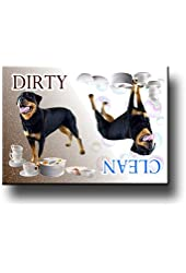 Rottweiler Clean / Dirty Dishwasher Magnet No 2