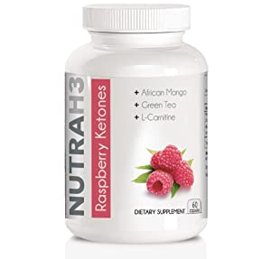 Pure Raspberry Ketones - 500mg Raspberry Ketones Per Serving + African Mango + Cacao Extract + Green Tea + L-Carnitine. Highest Quality Supplement Available!