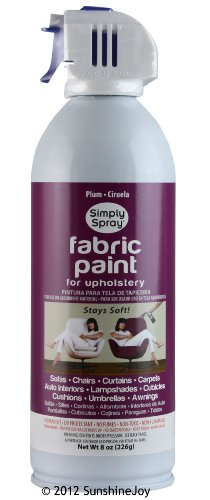 simply spray upholstery fabric spray paint 8 oz can plum single can. Black Bedroom Furniture Sets. Home Design Ideas