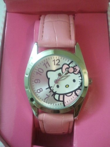 Licensed Hello Kitty Ladies Wrist Leather Band Watch – Pink