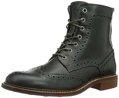 Marc O'Polo Lace Flat Heel Bootie, Damen Combat Boots, Grau (grey 920), 42 EU (8 Damen UK)