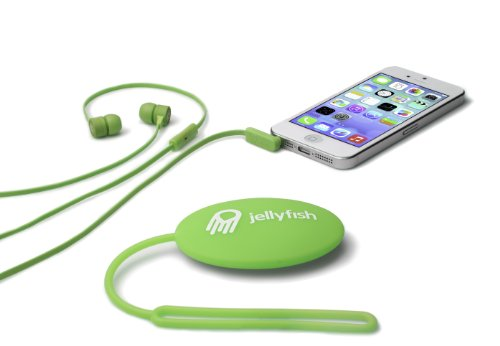 Jellyfish Jellyfish Tune Buds Flat Cable In-Ear 3.5Mm Earbuds With Microphone And Storage Case - Wired Headsets - Retail Packaging - Luscious Lime
