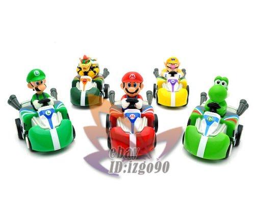 Super Mario New Pull Back Car Kart Figure 5PCS-MS557 (Super Mario Cars compare prices)