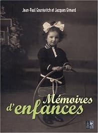 Mémoires d\'enfances par Jacques Gimard