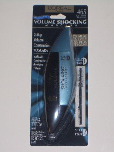 3a9c8bd485b Loreal Volume Shocking 2-Step Volume Construction Mascara Waterproof Black  Brown 465