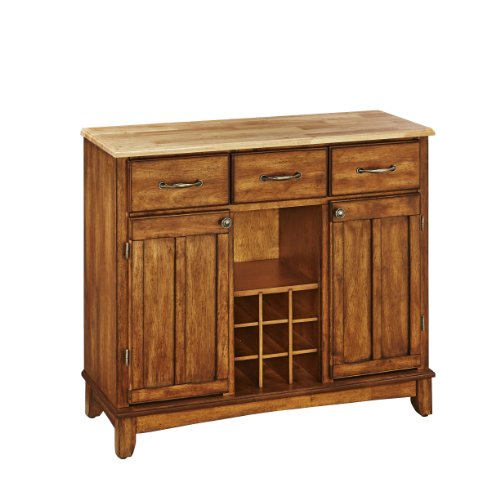 Home Styles 5100-0061 Natural Wood Top Buffet Server, Cottage Oak Finish, 41-3/4-Inch (Buffet Style Server compare prices)