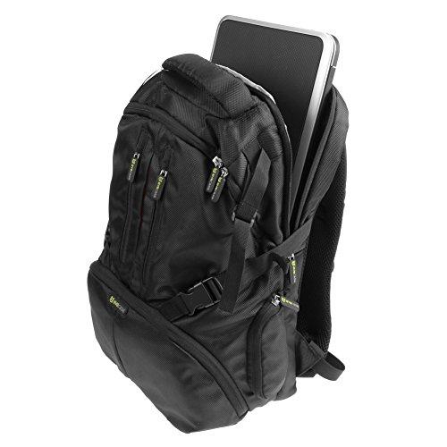 Evecase Dslr Camera Nylon Backpack With Tablet/Laptop Compartment & Rain Cover For Panasonic Dmc-G6, G6Kk, G5Kk, G3, G2, Gh4K, Gh4, Gh3, Gh2, Gh1 (Black)