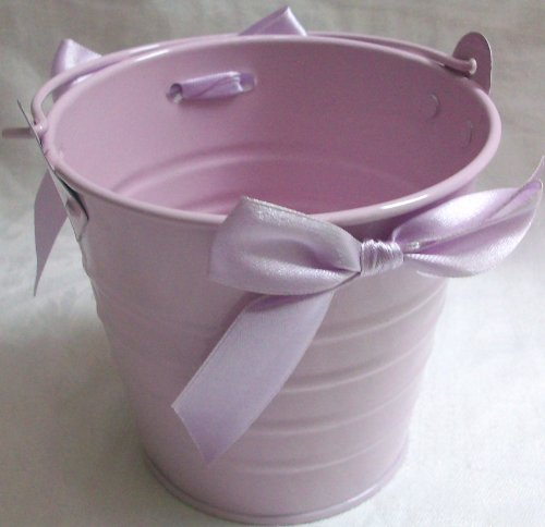 "3.5"" Tall, Lialic Pail With Bow, Party Supply, Baby Shower, Favour"