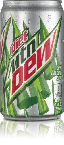 Diet Mountain Dew, 7.5 Fl Oz Mini Cans, 24 Pack