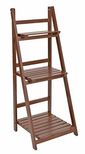 Ts ideen etag re escalier 3 marches pour plantes et d co marron jardin balco - Etagere pour terrasse ...