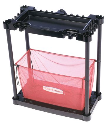 Rubbermaid Sports Gear Storage Station, Black / Red (FG5A4300BLARD) (Sports Storage Rack compare prices)