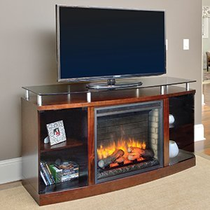 Hearth & Home Venture Electric Fireplace Media Console in Mahogany - VENTURE26-MA