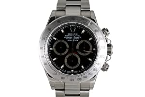 Rolex Mens Stainless Steel Daytona Black Dial from Rolex