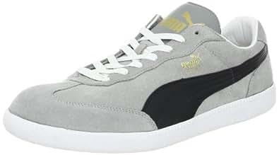 PUMA Liga Suede Classic Sneaker,Limestone Gray/Black/White,4 D(M) US
