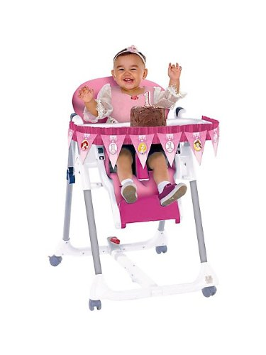 Amscan - Disney 1St Birthday Princess High Chair Decorating Kit, Multi-Colored front-474078