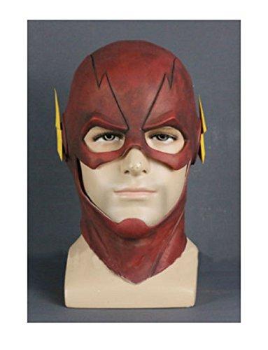[The Flash Allen Cosplay Helmet Halloween Full Face Latex Mask Helmet Hood] (Deadshot Arrow Costume)