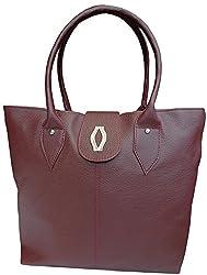 H&H Women's Handbag Maroon (AHHBDM)