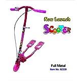 Metal Panda Waving Scooter- Pink