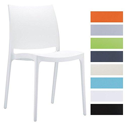 CLP-Design-Kchenstuhl-Stapelstuhl-Gartenstuhl-MAYA-stapelbar-wasserabweisend-UV-bestndig-bis-zu-8-Farben-whlbar-wei