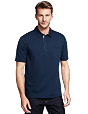 Cotton Rich Slim Fit Polo Shirt