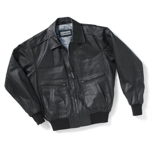 Embroidered Leather Flight Jacket; COLOR: BROWN; SIZE: XL