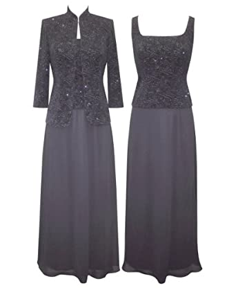 Plus Size Smokey Nights Evening Dress --Size: 16 Color: Grey