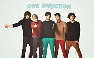 One Direction Pop Music Group Wall Silk Fabric Poster Print 40x24 by greatrateshop