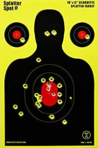 "12"" X 18"" Silhouette Splatter Targets 10, 25, 50 100 Packs See Your Hits Instantly"