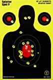 """12"""" X 18"""" Silhouette Splatter Targets 10, 25, 50 100 Packs See Your Hits Instantly"""