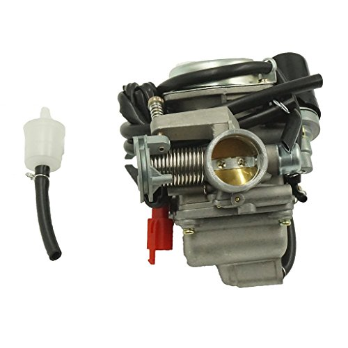 Glixal ATMT1-0741 26mm Big Bore Carburetor with Electric Choke for 157QMJ 1P57QMJ GY6 150cc Scooter ATV Go-Kart Moped (Scooter Carburetor 150cc compare prices)