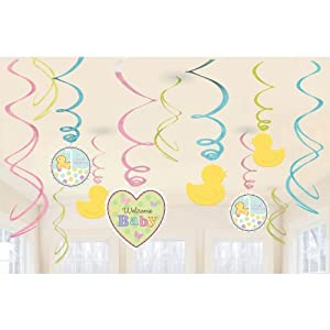 Amazon.com - Tiny Bundle Welcome Baby Shower Hanging Swirl
