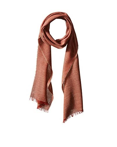 Alicia Adams Alpaca Women's Whisper Scarf, Taupe/Rust