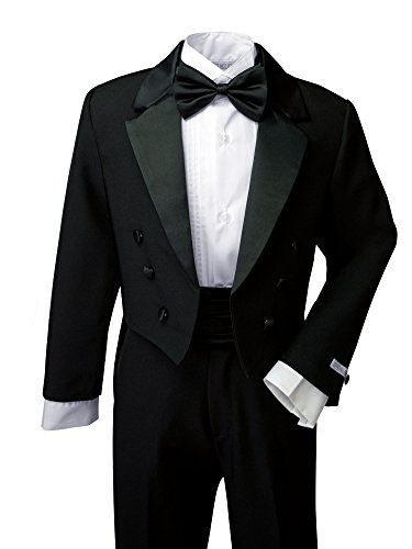 Spring Notion Boys` Black Classic Tuxedo with Tail 16