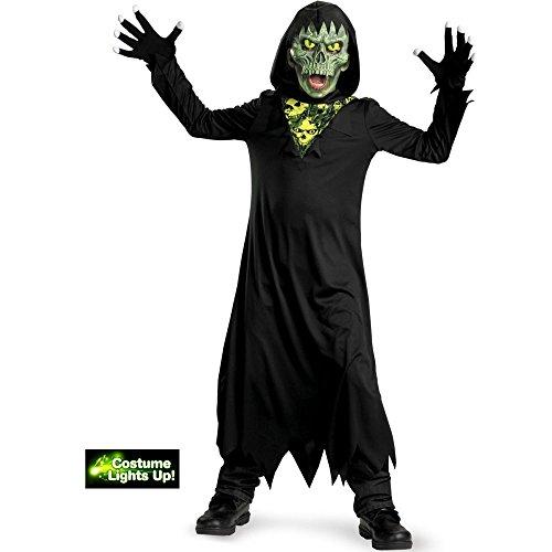 Glow Away Grim Reaper Costume, Black/Green, Large/10-12