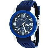 腕時計 Omax Supreme #TS670 Men's Stainless Steel Blue Dial Silicone Band Casual Sports Watch【並行輸入品】
