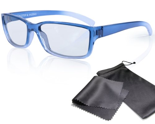 3D Movie Glasses for Children - blue / transparent - for RealD cinema use and passive 3D TVs such as LG