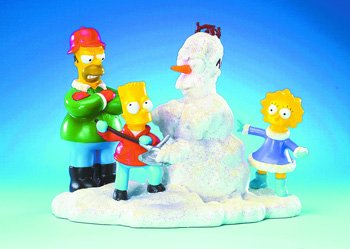 "The Simpsons: ""We Can Build a Snowman"" Statue at Sears.com"