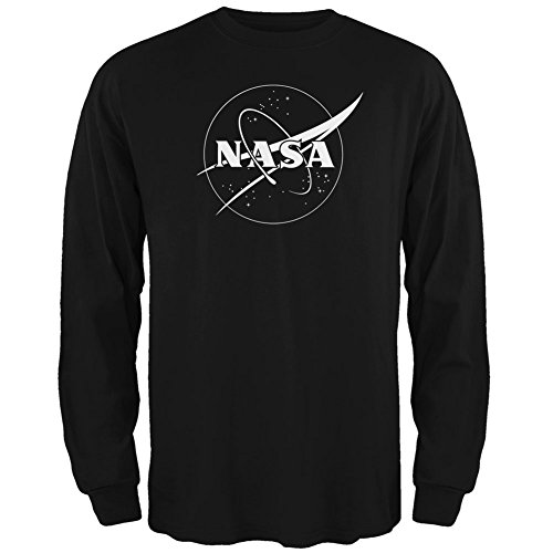 nasa-outline-logo-nero-adulto-manica-lunga-t-shirt-x-large