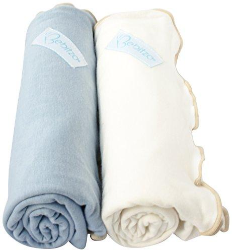 Primo Bebitza Antibacterial Baby Wraps, Baby Blue/White