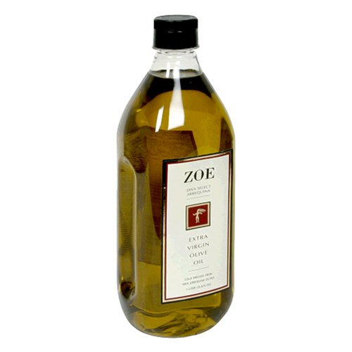 Zoe Diva Select 100% Arbequina Extra Virgin Olive Oil, 1-Liter Jug (Pack of 2)