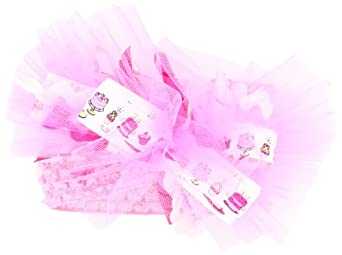 Mud Pie Baby-girls Newborn Birthday Bow Headband, Pink, One Size