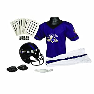 Franklin Sports NFL Baltimore Ravens Deluxe Youth Uniform Set, Medium