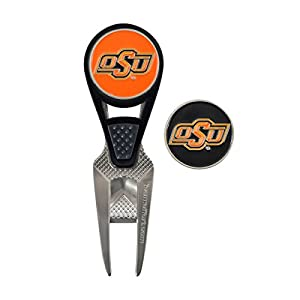 Team Effort Unisex Oklahoma State CVX Ball Mark Repair Tool and Ball Markers