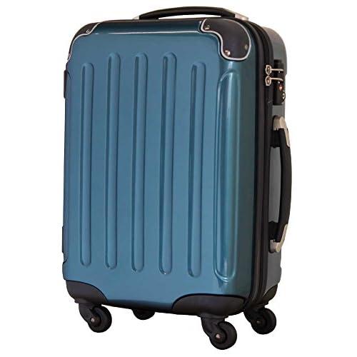 キャリーケース 超軽量 ファスナータイプ キャリーバッグ スーツケース 機内持ち込み型 5780 SSサイズ(保証付き TSAロック搭載) オーシャンブルー